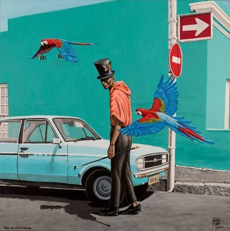 Fora da casa turquesa - Christian Beijer Arts