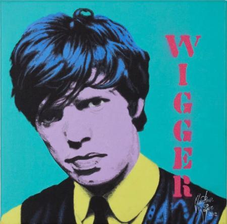 Mick Jagger Wigger - Christian Beijer Arts