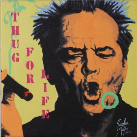 Jack Nicholson Thug for life - Christian Beijer Arts