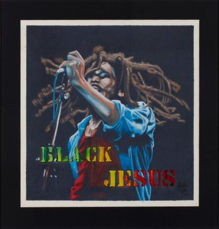 Bob Marley Black Jesus - Christian Beijer Arts