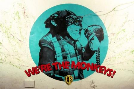 The Monkey Bar Mural. In Bahia Brazil. This is the final result. Me like! - Christian Beijer Arts